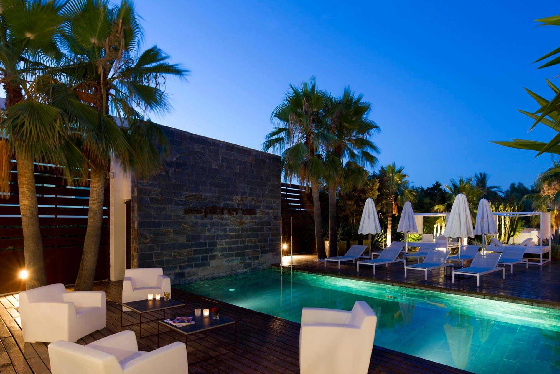 Hotel terrace with chill out in ibiza ses pitreras for What is a hotel terrace